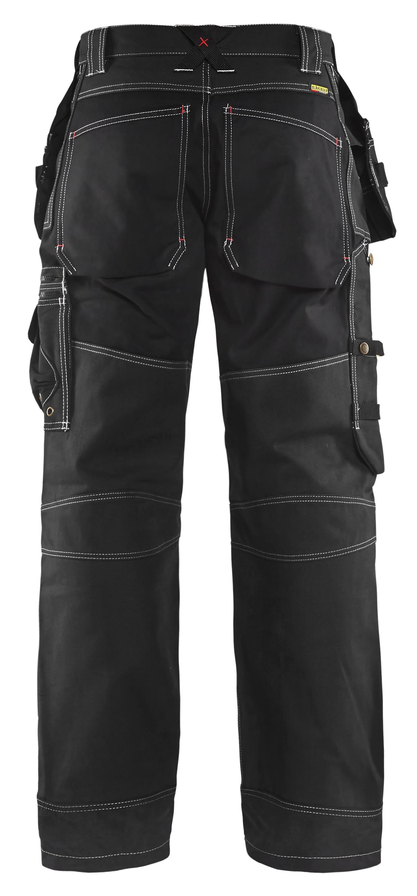 Size 30//30 Blaklader 150013708899D84 X1500 Trousers Craftman Navy Blue//Black