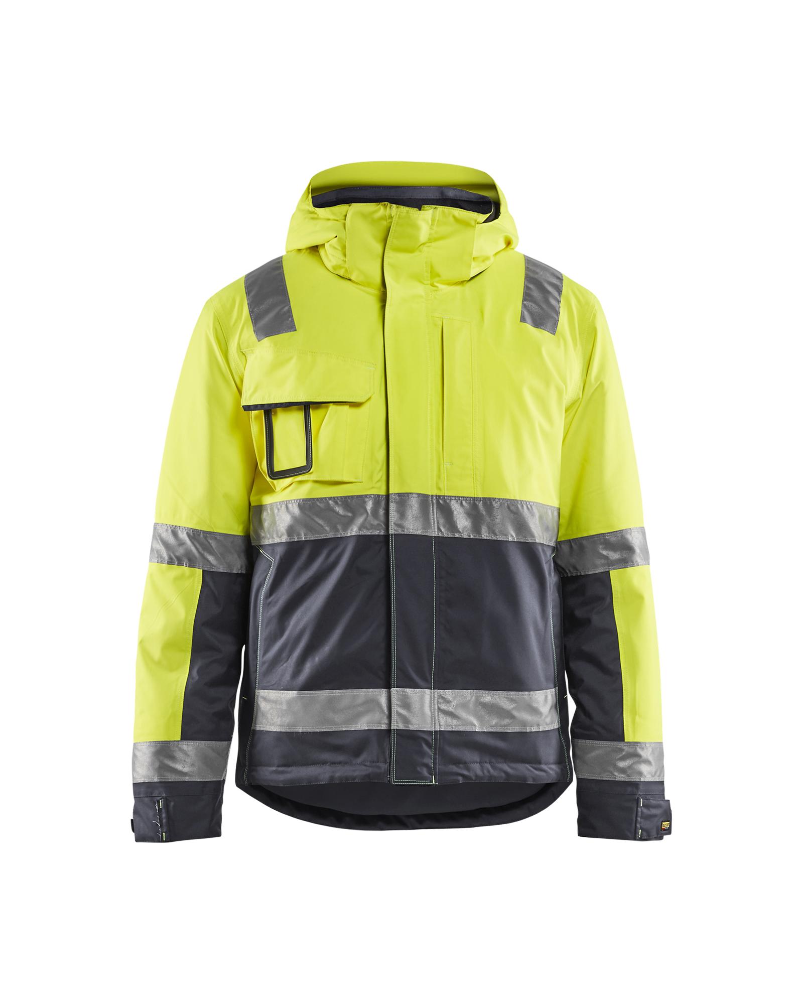 Blaklader Workwear High Vis Jacket Yellow//Navy Blue L