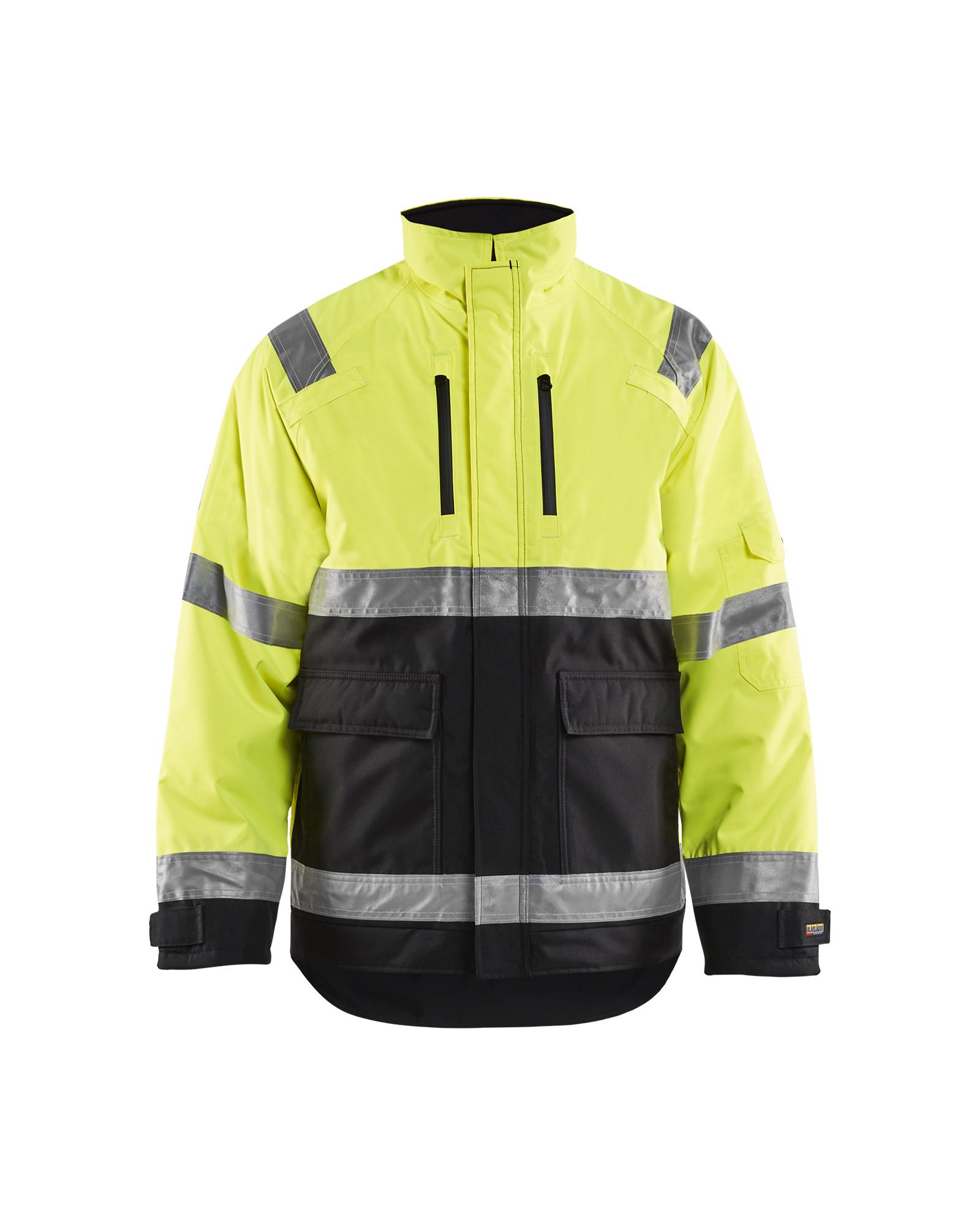 Blaklader Workwear Fleece Jacket Black//Yellow XXXL