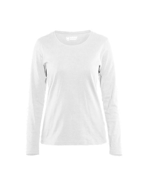 485623ce6dcc 330110321000 T-shirt manches longues femme. Blanc
